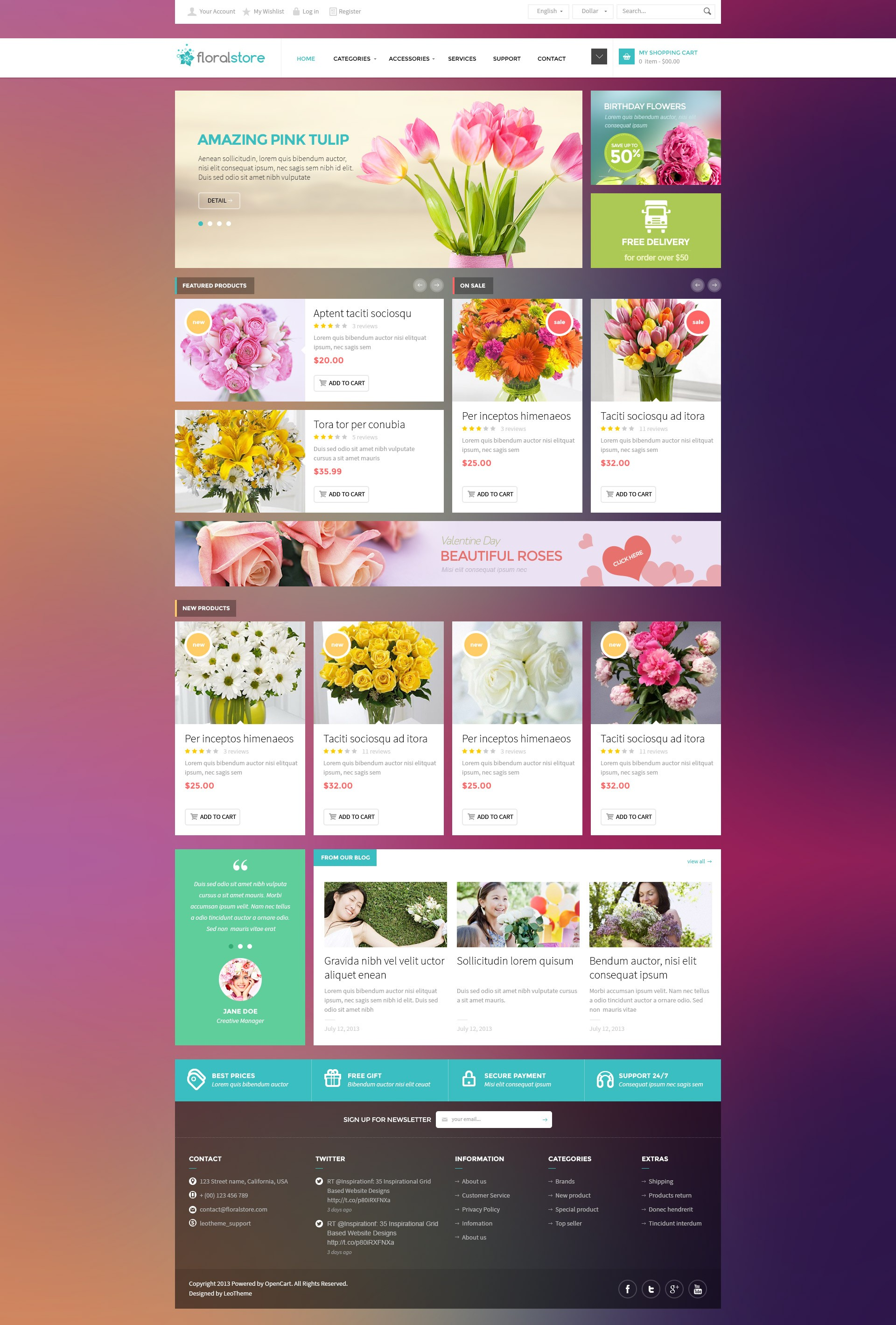Floral Store - PSD Template