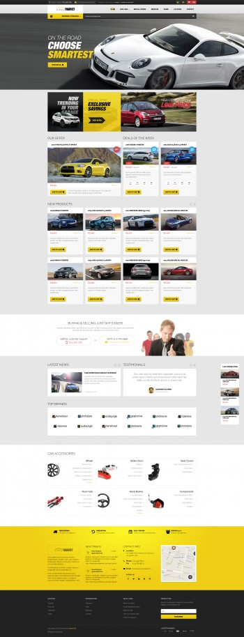 Cars Store - PSD Template