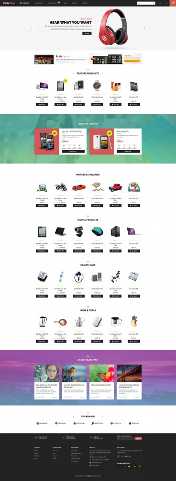 One Shop Template