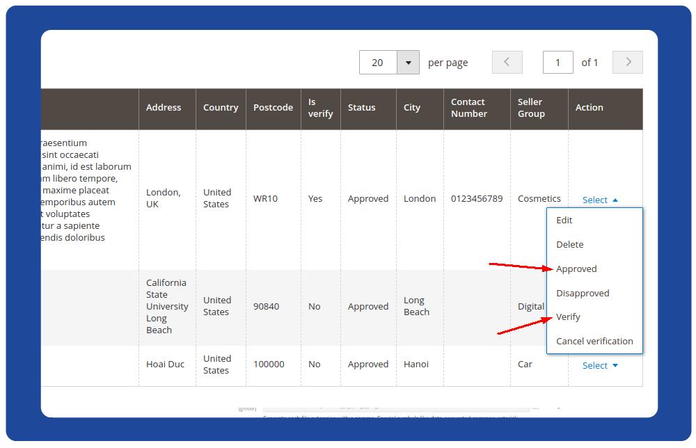 Update seller verification status