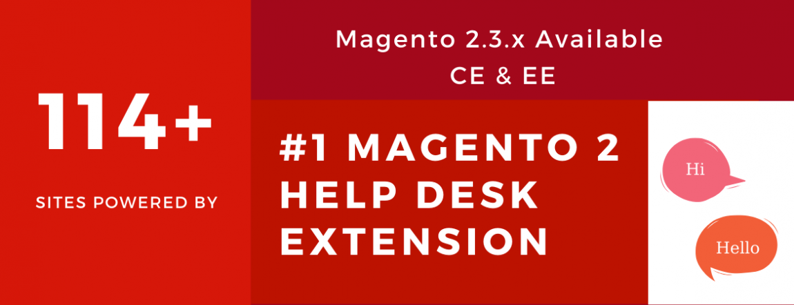 114+ sites powered by magento 2 help desk extension