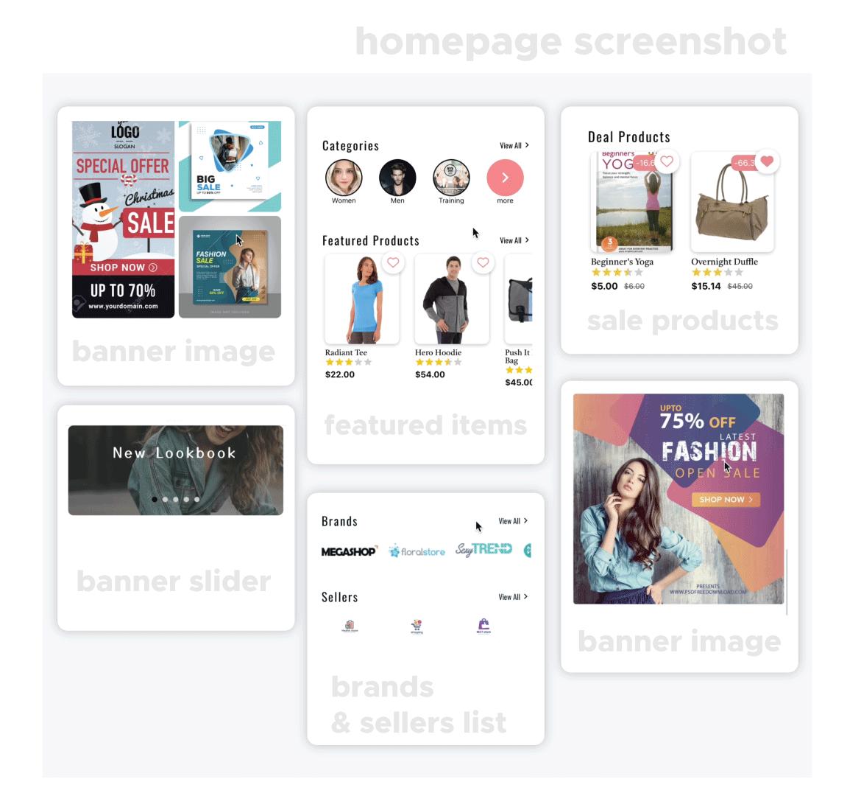 Magento 2 multi vendor mobile app screenshot 2