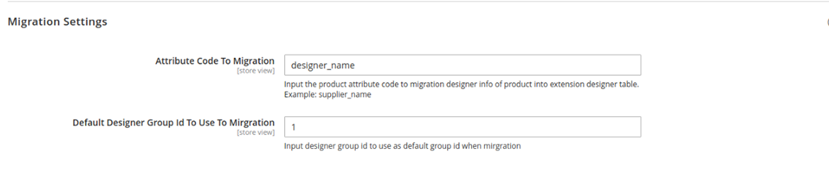 free magento 2 designer configure migration settings