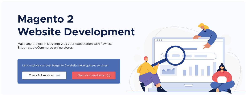 Magento website development service