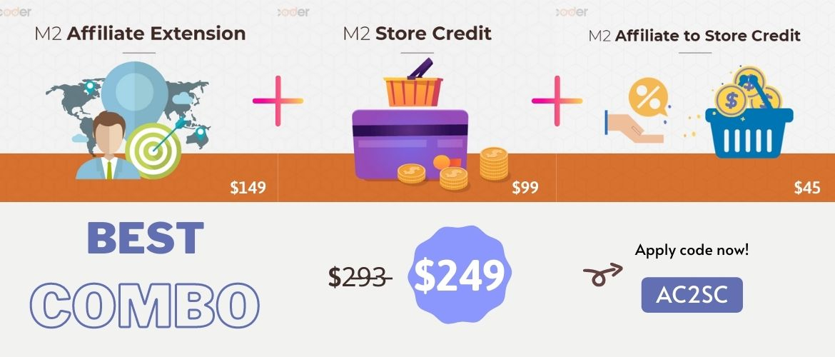 combo magento 2 affiliate to store credit