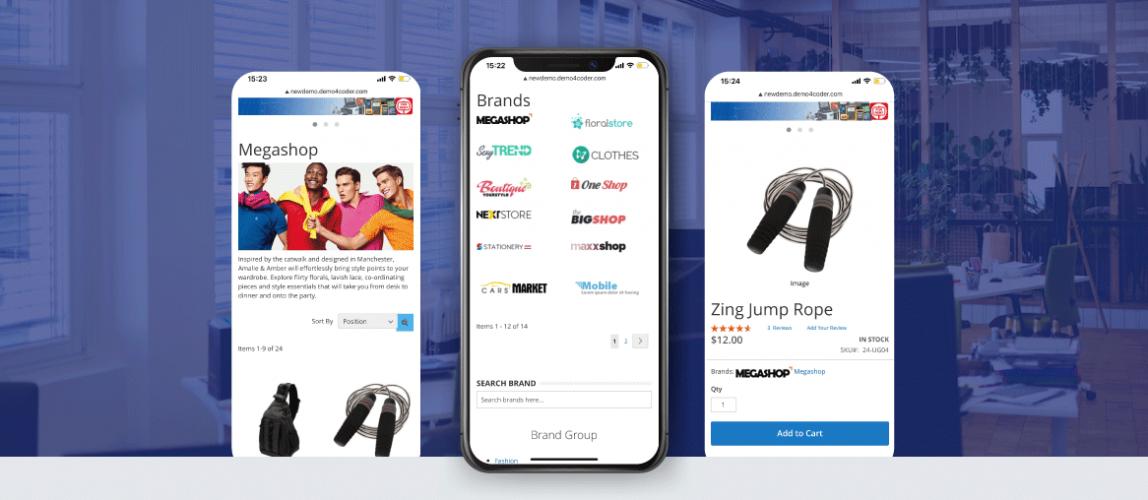 Landofcoder magento shop by brand mobile optimization