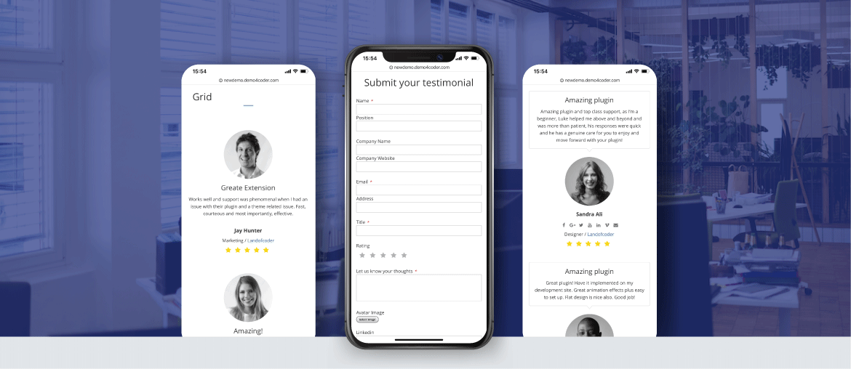 Magento 2 testimonials extension mobile optimiza