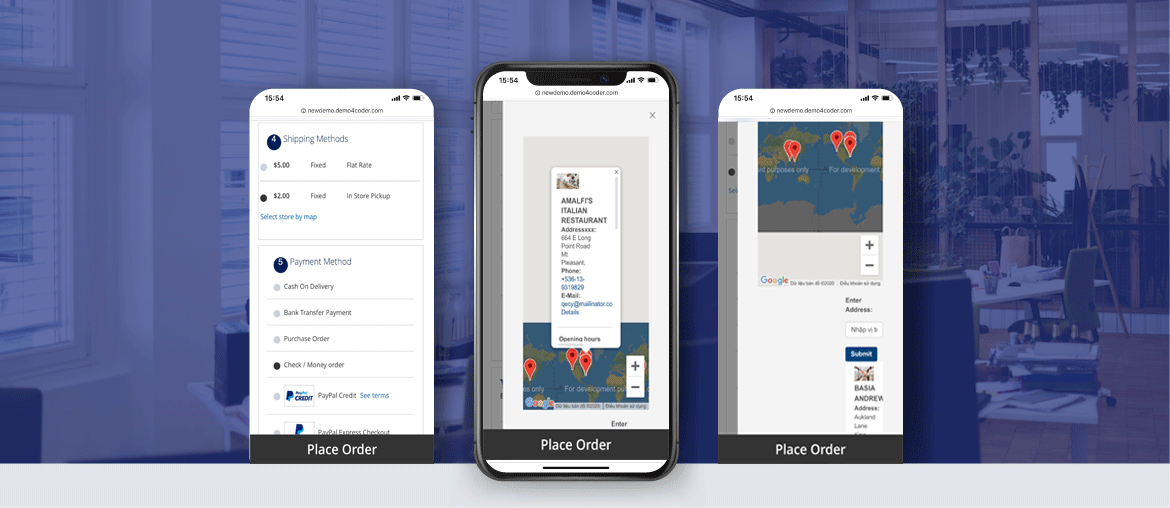 magento 2 store pickup extension mobile responsive