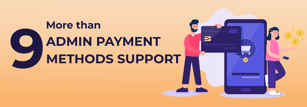 Magento 2 Admin Payment Method PRO supports 9 Admin Payments