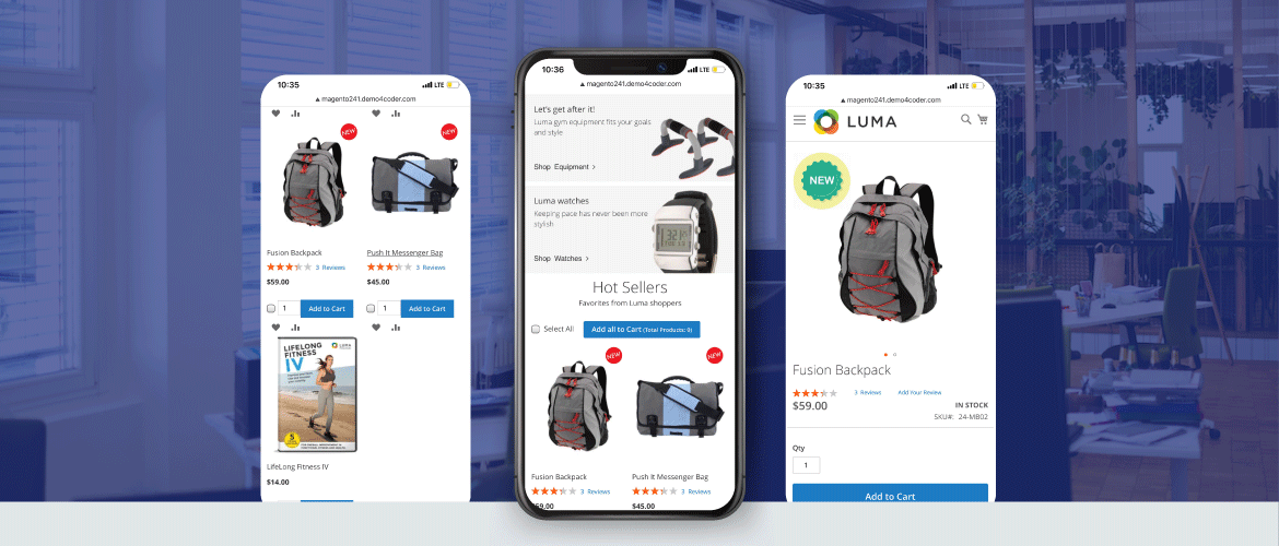 magento 2 product label supports mobile version