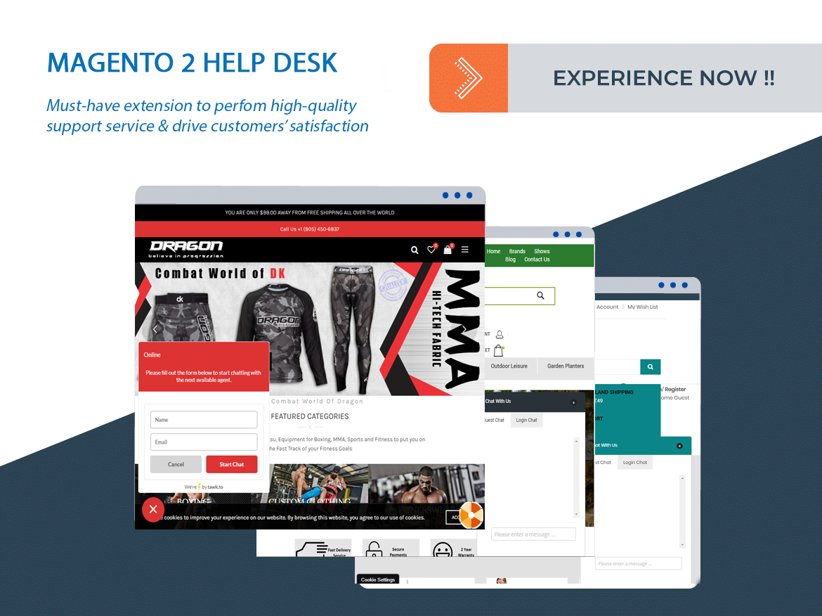 successful sites using magento 2 help desk extension