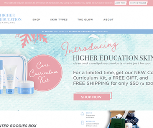 highereducationskincare.com