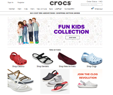 https://www.shopcrocs.in