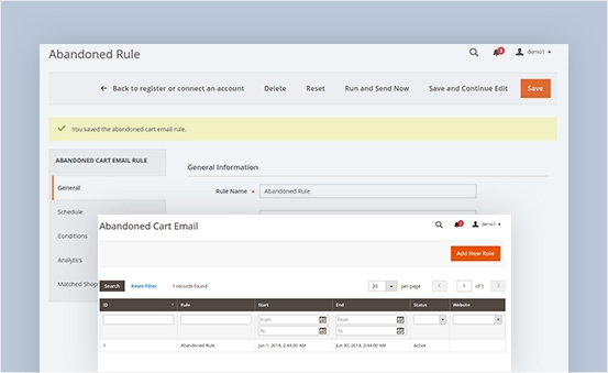 magento 2 abandoned cart email number of rules for better targeting