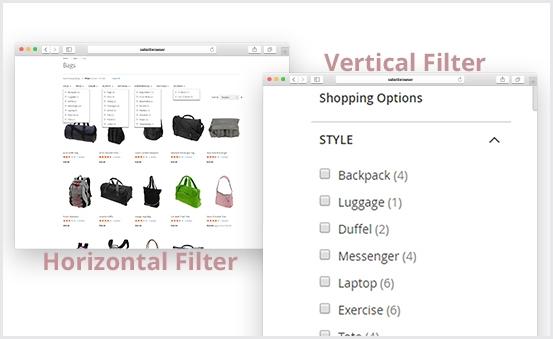 Flexible Vertical & Horizontal Filter