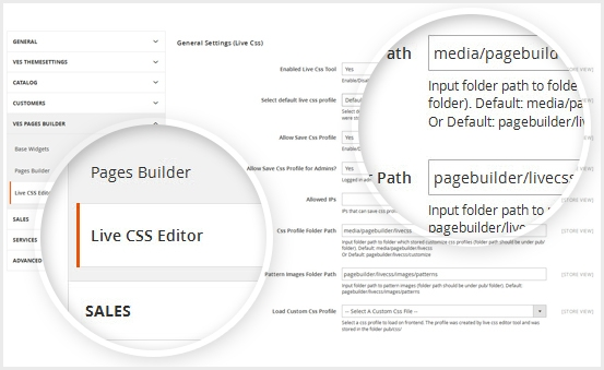 magento 2 page builder free css skin builder