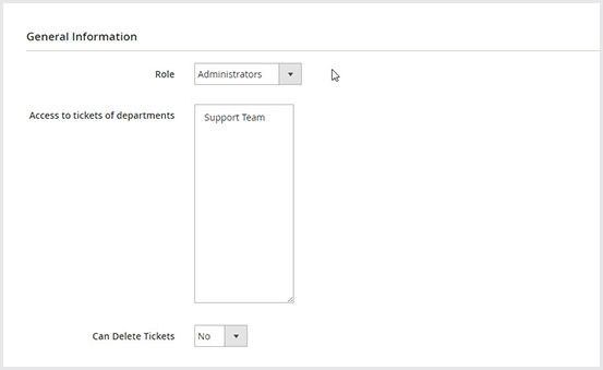 Set permission for each department in Magento 2 help desk