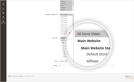 Magento 2 help desk extension multistore installations