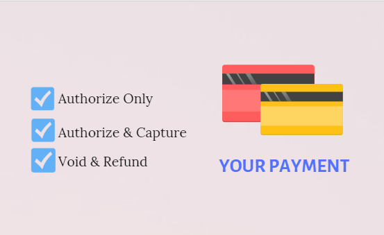 Authorize Only, Authorize & Capture, Void & Refund Payment
