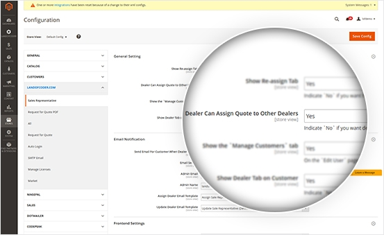 Allow dealers to assign quote to others