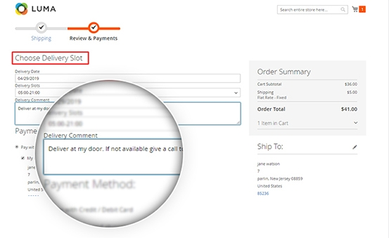 Magento 2 Delivery Slot With Rest Api Add Delivery Comment & Notify Admin