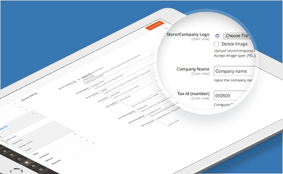 Easily to configure invoice files