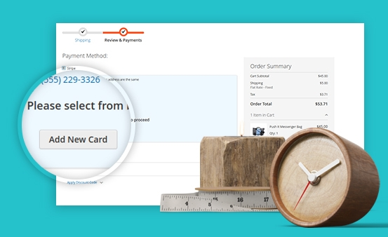 Quickly add/delete cards on the checkout page