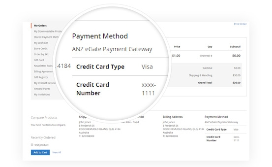 Intuitive & Friendly ANZ eGate Payment at Customers Detail Page