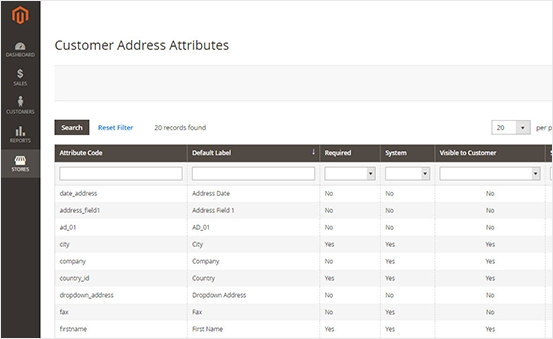 Displaying attributes on the backend Manage Customer Grid