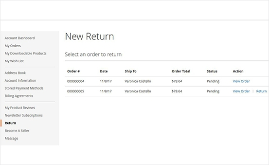 Magento 2 rma exatension check return status