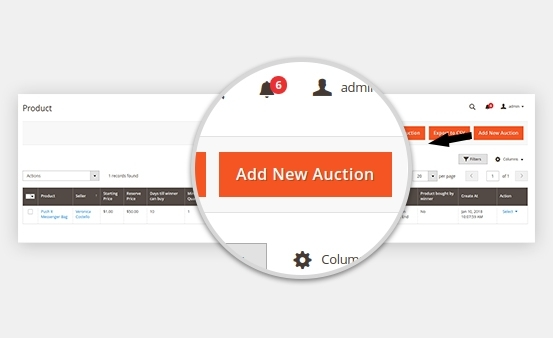 Add or delete Magento 2 auction feature