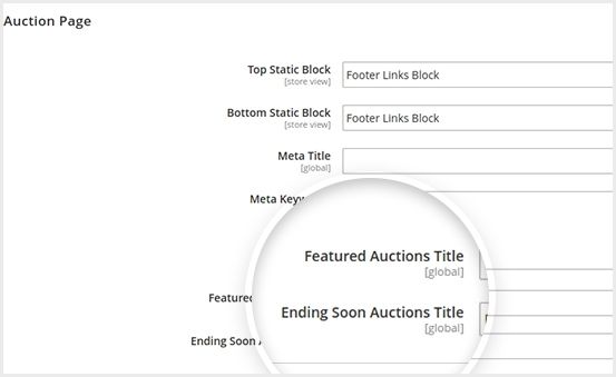 Displayed Ending Soon Auction Title