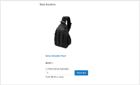 Widget Best Auctions support