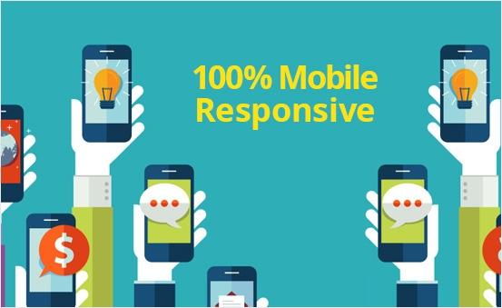 100% Mobile Responsive