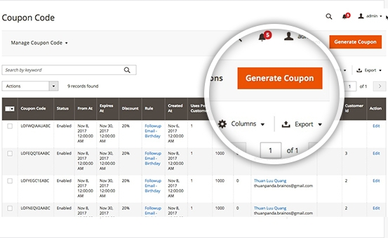 magento 2 coupon code condition: Get coupons automatically