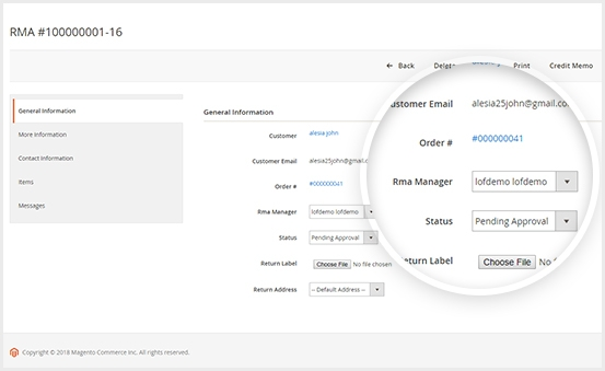Magento 2 rma extension with smart RMA management