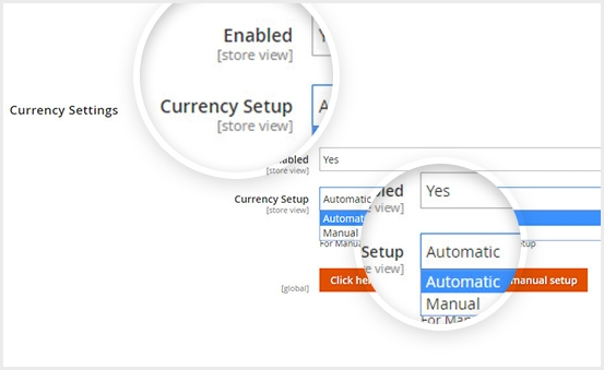 Manual & Automatic Currency Settings