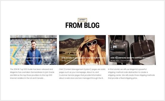 Latest Blog Widget