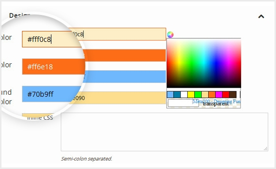 Style your megamenu without editing css file