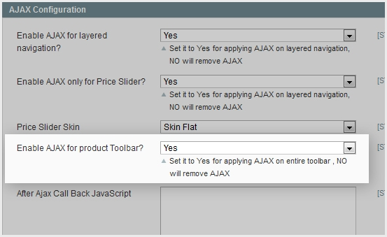 Rapid AJAX product Toolbar