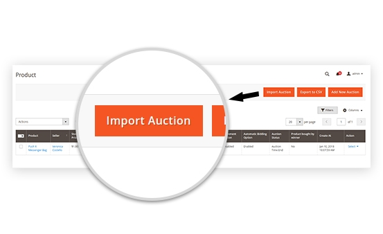 Import/Export Product Auction CSV