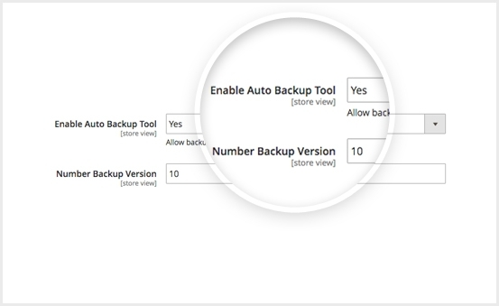 Enable backup tool in magento 2 mega menu extension