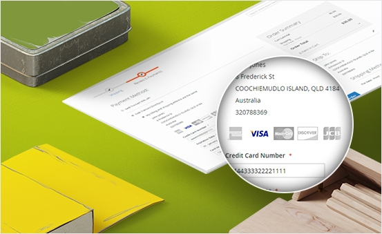 Customer Can Checkout with All Major Credit Cards