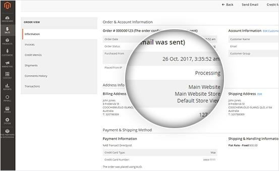 Admin Can View Customer Payment Status in the backend