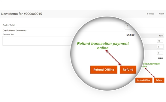 Online Refund in 1 click