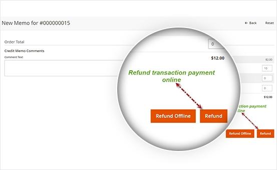 Online Refund in 1 click