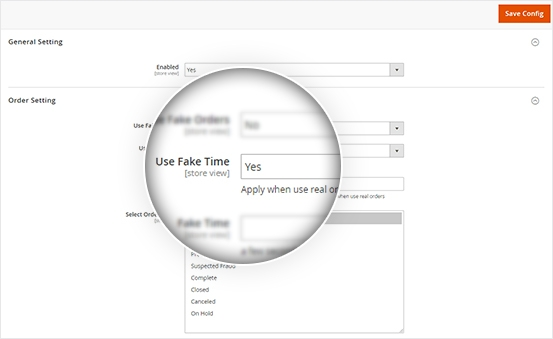 Display Fake Time for both Real Order & Fake Order