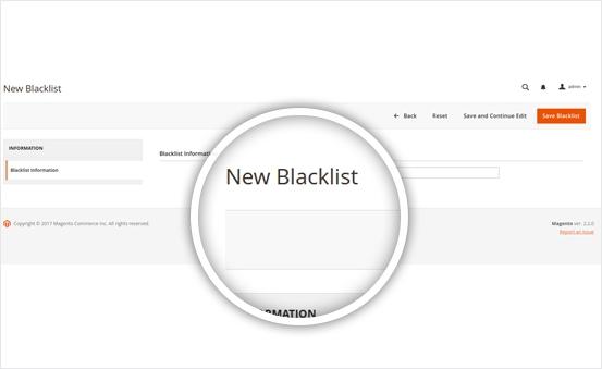 Create Blacklist in minutes