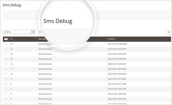 Ease to control SMS with SMS Debug