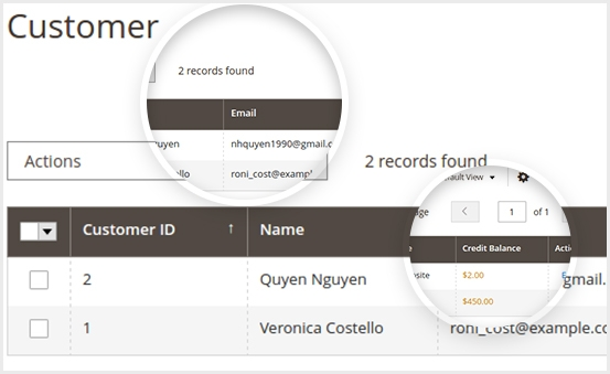 Manage Customer Balance from backend